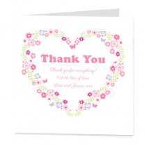 Customisable Floral Heart - Luxury Greeting Card