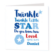 Twinkle Twinkle Boys - Luxury Greeting Card