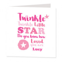 Twinkle Twinkle Girl - Luxury Greeting Card