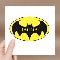 Personalised Batman Luxury Fabric Card