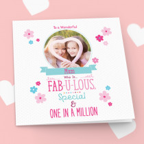 Personalised One In A Million Luxury Fabric Photo Card