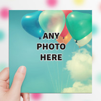 Personalised Photo Card - One Photo Luxury Fabric Card