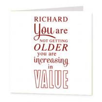 Personalised Happy Birthday Increasing Value Non Photo - Luxury Greeting Card