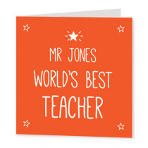 Best Teacher Star - Luxury Greeting Card