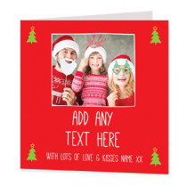 Christmas Bright General Photo Upload - Luxury Greeting Card