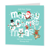 Christmas Fun Text Non Photo - Luxury Greeting Card