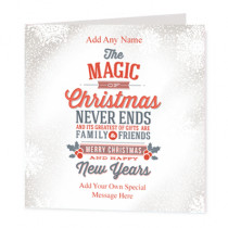 Christmas Family And Friends Non Photo - Luxury Greeting Card