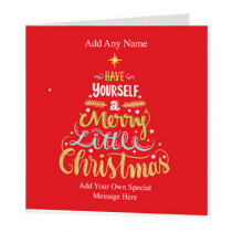 Christmas Text Tree Non Photo - Luxury Greeting Card