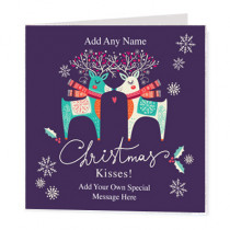 Christmas Love Deers Non Photo - Luxury Greeting Card