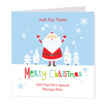 Christmas Juggling Santa Non Photo - Luxury Greeting Card