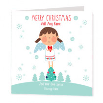 Christmas Fairy Non Photo - Luxury Greeting Card