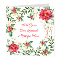 Christmas Foilage Non Photo  - Luxury Greeting Card