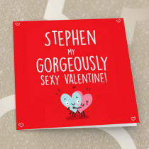 Personalised Gorgeously Sexy Valentine Card - Luxury Fabric Card