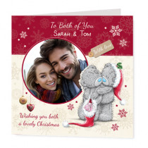 Christmas Love Teds Photo Upload - Luxury Greeting Card