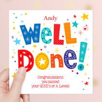 Personalised Well Done Brightl Non Photo - Luxury Greeting Card