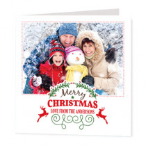 Christmas From The Photo Upload  - Luxury Greeting Card