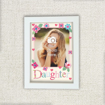 Personalised Fabrique Daughter Photo Frame