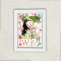 Personalised Fabrique Wife Photo Frame