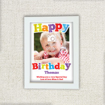 Personalised Big Happy Birthday Photo Frame