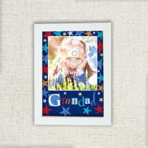 Personalised Grunge Star Grandad Photo Frame