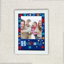 Personalised Grunge Star Husband - Photo Frame