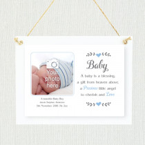 Sentimental Baby Boy - Personalised Photo Frame