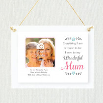 Personalised Sentimental Owe To My Mum Photo Frame
