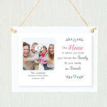 Sentimental Family Our Home - Personalised Photo Frame