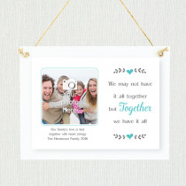 Sentimental Family Together We Have It All - Personalised Photo Frame