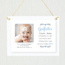 Sentimental Godfather Uncle - Personalised Photo Frame