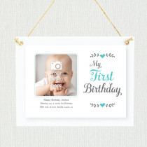 Personalised Sentimental First Birthday Photo Frame