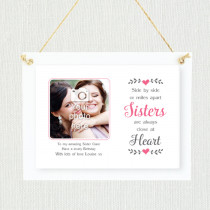 Personalised Sentimental Sisters Close At Heart Photo Frame