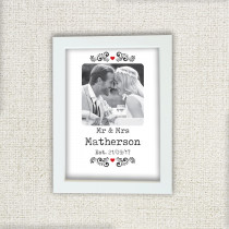 Personalised Mr And Mrs Editable Photo Frame