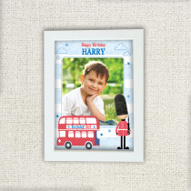Personalised London Bus Photo Frame