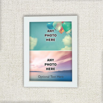 Easy Two Photo And Optional Text - Photo Frame