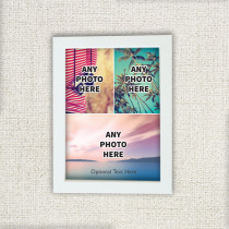 Easy Three Photos With Optional Text - Photo Frame