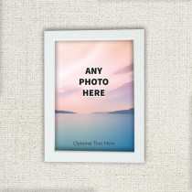 Easy One Photos With Optional Text - Photo Frame
