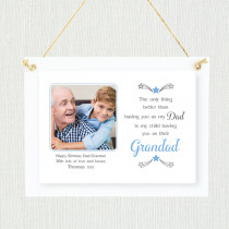 Personalised Sentimental Dad Grandad Single Child - Personalised Photo Frame