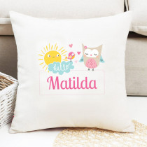 Personalised Cute Owl Cushion