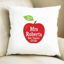 Personalised Teacher Apple - Cushion