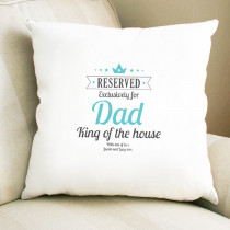 Personalised Blue Reserved Cushion