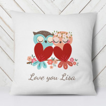 Personalised Love Owls Cushion