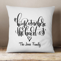 Personalised Home is Where the Heart is - Cushion