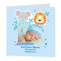 Boy Jungle - Luxury Greeting Card Photo Upload