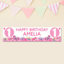 Personalised Butterfly Age Banner