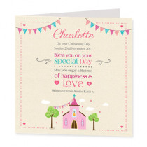 Pink Church - Luxury Greeting Card