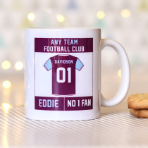 Personalised Choose Your Football Team Mug