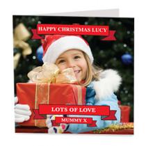 Christmas Banners with Photo Upload - Luxury Greeting Card