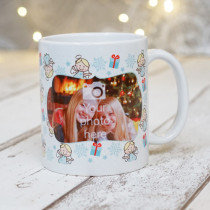 Christmas Fairies with Photo Upload - Mug
