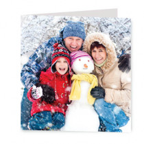 Christmas Just Photo Upload - Luxury Greeting Card